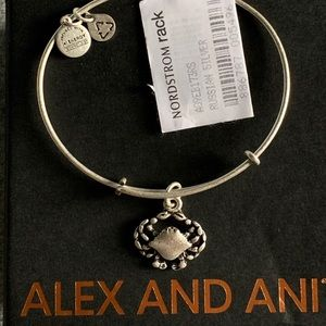 New Alex and Ani Silver Crab Bracelet